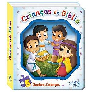 JANELINHA LENTICULAR BÍBLICA COM QUEBRA-CABEÇAS - CRIANÇAS DA BÍBLIA