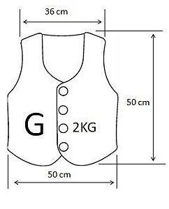 Colete com Peso ou Ponderado Tamanho G -  Produção Artesanal - Idade Sugerida: 6 a 8 anos - Várias Cores - Frete Grátis