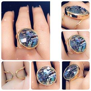Brinco Pedra Abalone
