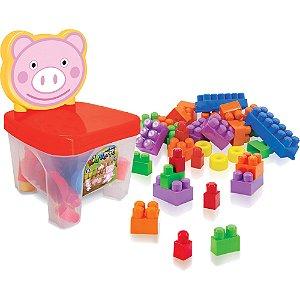 Cadeirinha Kidverte PIG com blocos para montar
