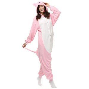 Porquinho Rosa Pijama Kigurumi Fantasia