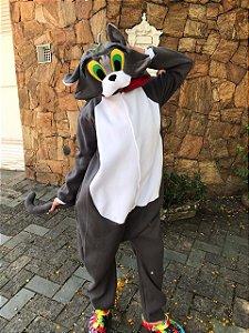 Gatinho Miau Cinza Pijama Kigurumi Fantasia