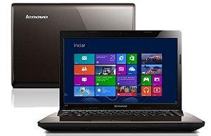 """Notebook usado, Lenovo G485, AMD C-60, 1.0GHz, 4GB, HD500GB, 14"""", Leitor CD/DVD, Win 10, Bateria boa!"""