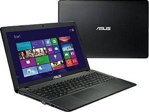 """Notebook usado, Asus X552, AMD E1-2100, 1.00GHz, 4GB, HD160GB, 15.6"""", Leitor cd/dvd, Win10, Bateria não segura carga!"""