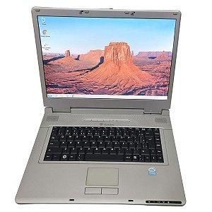 "Notebook usado, Itautec, DualCore, 1.86GHz, 3GB, HD160GB, 15.4"", Leitor CD/DVD, Win7, Bateria segura 1hora!"
