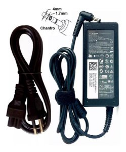 FONTE CARREGADOR NOTEBOOK DELL 19.5V X 3.34A 65W CHANFRO PLUG 4.0mm X 1.7mm - VOSTRO 5460 5470 5480 SERIES E OUTROS