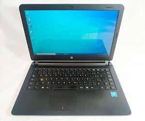 Notebook HP NH4BU0J Intel Celeron 1.7Ghz, 4Gb ram, HD500Gb, Windows 10, Bateria não segura carga, baratinho.