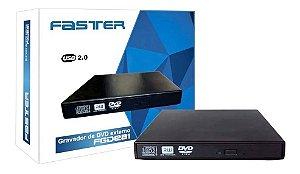 GRAVADOR DE CD/DVD, EXTERNO, SLIM, FASTER, FGDE81