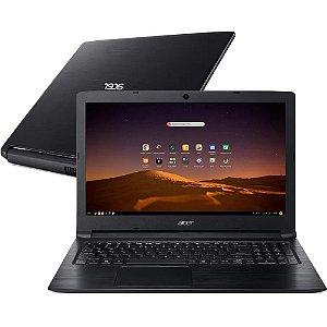 "Notebook usado, Acer A315-53, Intel Core i3-7020U 2.30GHz, 4GB, HD1TB, Webcam, Wifi, Win10 Home, 15.6"", c/teclado numérico."