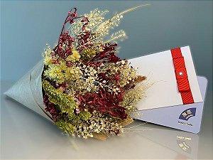 Kit Voucher Day Spa Zen com Bouquet de Flores