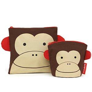 Saquinhos Para Lanche Reutilizáveis Skip Hop Zoo Macaco
