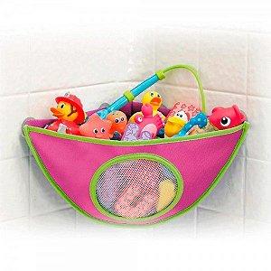 Organizador De Brinquedos De Banho Munchkin Rosa