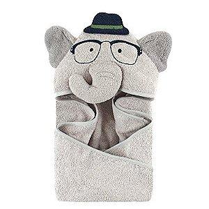 Toalha Hudson Baby Nerdy Elefante