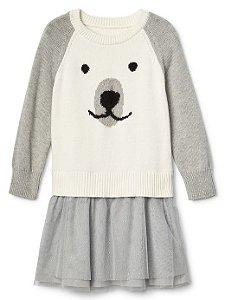 Vestido Manga comprida  GAP Bear