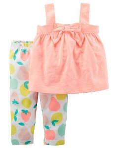 kit 2 Peças Carte'rs Neon Bow Tank & Fruit Legging Set