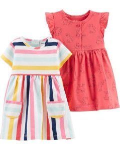 kit 2 Vestidos Carters Jersey