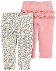 Kit 2 calças -  floral - carters