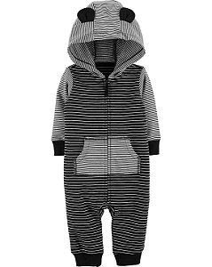 Macacão Carters Com Capuz Striped Jumpsuit
