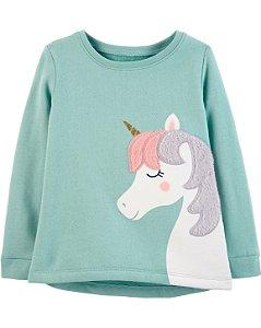 Cardigan Carters Sem Capuz - Fleece Unicorn