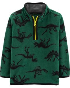 Cardigan carters - Fleece Pullover Dinosaur
