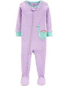 Pijama  carters manga longa com pezinho  Carters Dinosaur