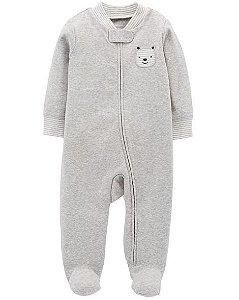 Macacão manga longa com pezinho Bear Snap-Up Cotton Sleep & Play