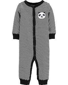 Macacão manga longa sem pezinho Panda -  Footless Sleep & Play