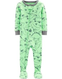 Pijama  carters manga longa com pezinho  Carters Dinosaur  Green