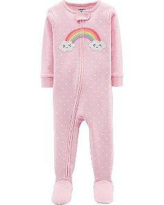 Pijama  carters manga longa com pezinho  Carters Rainbow