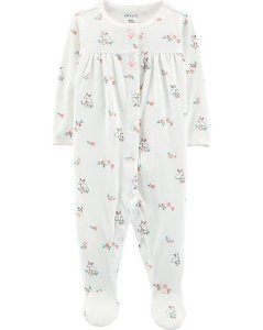 Pijama  carters manga longa com pezinho  Carters Floral