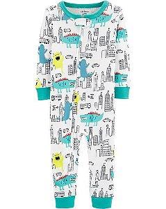 Pijama  carters manga longa com pezinho  Carters Monstro