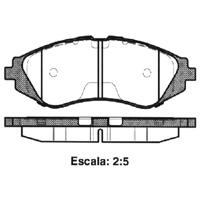 PASTILHA DE FREIO CITROEN C 3 1.4 8V 02/... - DIANTEIRA