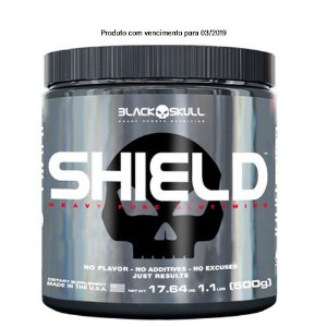 Shield 500g  Glutamina - Black Skull