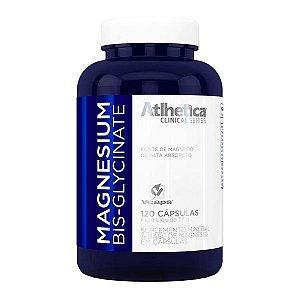 Magnesium Bis-Glycinate (Magnesio) - 120 Cápsulas - Atlhetica