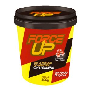 Pasta de Amendoim Integral com Albumina 500g - Force Up
