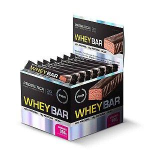 Whey Bar (Caixa com 24 unidades de 40g) - Probiótica
