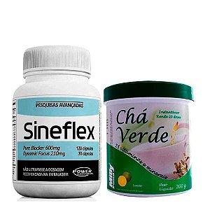 Kit Sineflex 150 Cápsulas e Chá Verde 200g