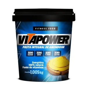 Pasta de Amendoim Integral Cremosa - 1,005kg - Vita Power
