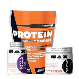 Protein Complex 1,8kg + Bcaa 2400 60 Caps + Creatine 100g