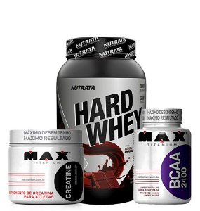Hard Whey + Bcaa 2400 60 Caps + Creatine 150g