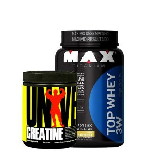 Top Whey 3W 900g + Creatina Universal 200g