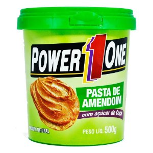 Pasta de Amendoim com açúcar de coco 500g Power One