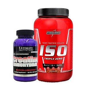 Iso Triple Zero 907g + Creatina 300g Ultimate Nutrition