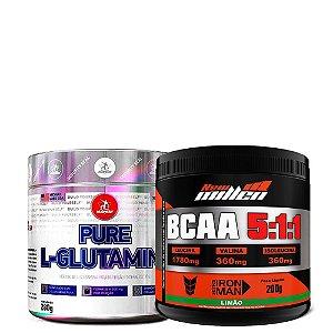 Combo Bcaa 5:1:1 New Millen + L-Glutamine Midway