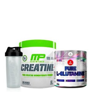 Creatine 300g Muscle Pharm + Glutamine 280g Midway