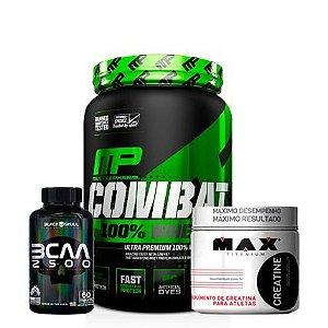 Combat 100% Whey 907g + Bcaa 2500 + Creatine 150g