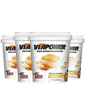 4x Pasta de Amendoim 1,005Kg Vitapower - Sabores