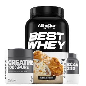 Combo Best Whey + Creatina 50g + Bcaa 120caps