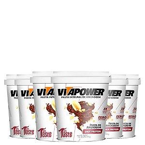 6 unidades de Pasta De Amendoim Shot Protein 1,005 Vitapower