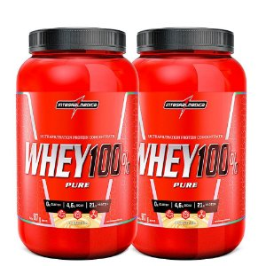 Kit 2x Whey Protein 100% Pure 907g Integralmedica